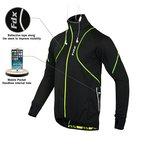 FDX Herren Performance Fahrradjacke Wind Stopper Thermo Winter Running Hi Viz mehrfarbig schwarz / gelb M