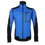 Lixada MTB Mountainbike Jacket Winter Trikot Radfahren Fahrradkleidung Winddicht Jersey, Blau,XL