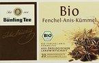 Bünting Tee Bio Fenchel-Anis-Kümmel 20 x 3 g Beutel, 4er Pack (4 x 60 g)
