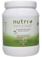 Nutri-Plus Shape & Shake Vegan Erdbeere 500g - Pflanzlicher Proteinshake ohne Aspartam, Laktose & Milcheiweiß