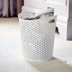 Curver My Style Papierkorb, 13 Liter Fassungsvermögen, für Haus, Küche, Büro, Schlafzimmer, Weiß