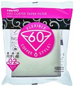 ICO HARFIL100 Hario Papierfilter / Filtertüten Misarashi, mittel für V60-02, 100 Stück, weiß, 53.3 x 35.6 x 61 cm