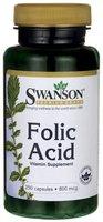 Swanson - Folsäure (Folic Acid) 800mcg, 250 Kapseln - Pränatale Vitamin B9 (Folat, Folacin) - Spezielle Nahrungsergänzung für Schwangerschaft & bei Kinderwunsch (Pregnancy Supplement)