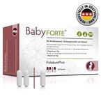 BabyFORTE FolsäurePlus 60 Kapseln Vitamine für Kinderwunsch, Schwangerschaft und Stillzeit mit Folsäure, Eisen und Jod, vegan