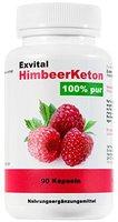 Exvital HimbeerKeton, 90 Kapseln in Premiumqualität, 100% pures Keton, Hochdosiert, 1er Pack (1x 45g)