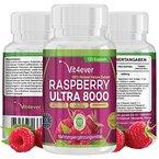 Raspberry Ultra 8000 - 8000mg Tagesdosierung - Extra starke Formel - 120 Kapseln - 100% Himbeere Ketone Extrakt - vegetarisch - 60 Tage Anwendung - Himbeer Keton Fatburner + Diät Ergänzung + Stoffwechsel
