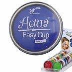Aqua Schminke Party Wasserschminke blau Aquaschminke Wasser Make Up Karneval Accessoires Faschingsschminke Kosmetik Wasserlösliches Makeup
