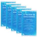 COM-FOUR® Kleine Mehrfach-Kompresse kalt und warm 10 x 8 cm - Mikrowellen geeignet (05 Stück)