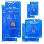 Alerion® Kalt-Warm-Kompresse Sparpack 3 verschiedene Größen Mehrfach Kompresse Wiederverwendbar Coolpack Mikrowellen geeignet 2x Klein 2x Mittel 2x Groß
