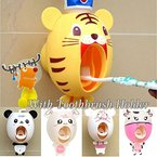 Lexitek baby Toothbrush Dispensers,kids Hands Free automatic toothpaste dispenser Cartoon Cute Animal Toothpaste Squeezer(Tiger) by BigNoseDeer