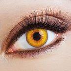 aricona Farblinsen Farbige Kontaktlinse Sun Salutation   - Deckende Jahreslinsen für dunkle und helle Augenfarben ohne Stärke, Farblinsen für Karneval, Fasching, Motto-Partys und Halloween Kostüme