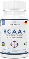 BCAA Tabletten   1200mg verzweigtkettige Aminosäuren   BCAA+ mit zugesetztem Vitamin B6 als Absorptionhilfe   Leucin, Isoleucin und Valin im optimalen 2 1 1 Nährstoffverhältnis   Aminosäure-Tabletten (nicht Kapseln)   Geeignet für Männer und Frauen   in GB erzeugt und GMP-zertifiziert   OSHUNsport Ernährung   Einführungsangebot nur für begrenzte Zeit