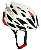 AWE® AWESpeedTM In-Mould Helm Erwachsene Männer Straßen-Radsport 56-58cm Weiß/rot