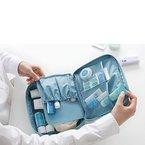 Forepin® Neu Premium Wasserdicht Nylon Taschenorganizer Kosmetik Handtaschen Organizer Handtaschenordner Kulturbeutel Reise Shopper Ordnung Hellblau