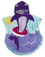 Playshoes Mädchen Bademantel Kinder Badeponcho, FMehrfarbigteponcho Delphin, Gr. One size (Herstellergröße: S), Mehrfarbig (original 900)