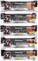 Weider 52% Protein Bar (24x 50g Box), Mix-Box (5 Geschmäcker), 1er Pack, (1 x 1.2kg)