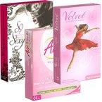 Der Kondomotheke® Ladies Mix - 3 Sorten Frauenkondome (Velvet, AirFemale, Terpan) - Probierset!