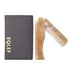 EQLEF® 1 Stück Yak Horn-Falt-Kamm Elegante Taschen Folding Yak Horn-Kamm-Wallet-fit Kamm