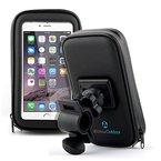 Fahrradhalterung Halter Lenkradhalterung Bike Holder mit wasserdichter Schutzhülle Tasche Universal für Smartphones, Handy, Navi, GPS ! Halterung 360 Grad drehbar / verschiedene Taschengröße : X-LARGE