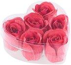 PEARL 6 rote Rosen-Duftseifen in Geschenk-Box
