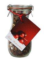 """Tee im Glas - Weihnachtstee Wintertee """"Frohe Weihnachten"""" in einer Weck® Flasche - 100 g Früchtetee"""