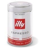 Illy Espresso gemahlen, normale Röstung (medium), Dose mit silber / roter Banderole, 250 g