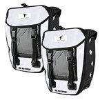 2x Red Loon Packtasche weiß/schwarz Gepäckträgertasche Hecktasche wasserdicht