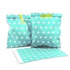 25 Frau Wundervoll Papiertüten / Geschenktüten / Candy Paper Bags - türkis, weiße Punkte -