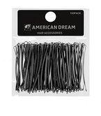 AMERICAN DREAM Pack of 100 x Haarnadeln - schwarz - glatt - 2.5 inch / 6.35 cm Länge, 1er Pack (1 x 124 g)