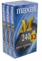 Maxell E240M VHS-Videokassetten (240Min, 3-er Pack)