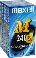 Videokassette VHS 240Min (5-Pack)//MAXELL