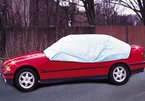 WENKO 5727010500 Auto-Halbgarage, Kunststoff - PEVA, 275 x 80 x 180 cm, Grau