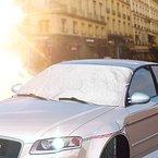 IWILCS Scheibenabdeckung, Frontscheibe Abdeckung Frostabdeckung Auto Frostschutz, Windschutzscheiben Abdeckung Autoabdeckung Winterabdeckung + Sommer Auto Sonnenschutz für Standard Auto (ein Freie Eiskratzer als Geschenk) - 59*46.5inch