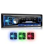 XOMAX XM-RSU254BT Autoradio mit Bluetooth Freisprecheinrichtung + 3 Farben einstellbar: Blau, Rot, Grün + USB Anschluss (bis 128 GB) & Micro SD Kartenslot (bis 128 GB) für MP3 und WMA + AUX-IN + Verkürzte Einbautiefe + Single DIN (1 DIN) Standard Einbaugröße + inkl. Einbaurahmen und Fernbedienung