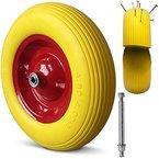 Schubkarrenrad Vollgummi PU 4.80/4.00-8 390 mm 200 kg + Achse - Reifen Ersatzrad