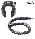 "AXA Defender ""Art"" Rahmenschloss Fahrradschloss mit Axa Kette RLC100 - 01200108K"