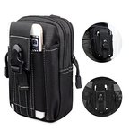 Aodoor Outdoor Reisen Sport Taktische Tasche Bauchtasche, Gürteltasche Handytasche Tasche Waist Bag-Multifunktional für Camping Reise Wandern(Schwarz)