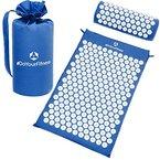 Akupressur-Set »Jimuta« / Tasche + Matte + Kissen / Akupressur- und Massagematte zur effektiven Lockerung und Lösung von Verspannungen / blau