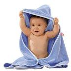 Baby Butt Kapuzenbadetuch Frottee hellblau Größe 100x100 cm