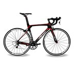 BEIOU® 2016 700C Rennrad Shimano 105 Bike 5800 11S Rennrad T800-M40 Carbon Aero-Rahmen Ultra-light 18.3lbs CB013A-2 (Matte Black&Red, 540mm)