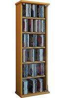 "VCM CD/DVD-Turm ""Vetro"" für 150 CDs Buche"