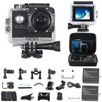 """WiFi Actioncam Action Kamera """"30M HD 1080P"""" mit 2 Akkus, kostenloses Zubehör für Outdooraktivitäten wie z.B. fahradfahren, skilaufen, motofahren und für Wassersportarten"""