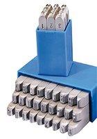 Gravurem Schlagzahlen und -buchstaben 0-9 und A-Z, Kombination in Schrifthöhe 3 mm, 10703000