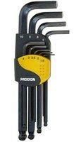 Proxxon 23946 Winkelschlüsselsatz für Innensechskant-Schrauben, 9-teilig 1.5 bis 10 mm