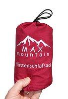 MAX mountain Hüttenschlafsack rot | Schlafsack Inlett | Reiseschlafsack aus atmungsaktivem Mikrofaser | Innenschlafsack 300g leicht ideal für Hotel und Trekkingtouren