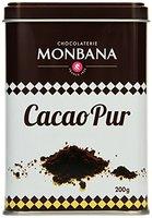 Monbana 100% Kakao Pulver 200g Dose, 1er Pack (1 x 200 g)