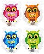 MIK funshopping 4 tlg Set Hand- & Taschenwärmer COLOURFUL OWLS