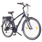NCM Hamburg 28 Zoll Elektrofahrrad Herren/Damen Unisex Pedelec,E-Bike,City Rad, 36V 250W 14Ah Lithium-Ionen-Akku mit PANASONIC Zellen, matt schwarz