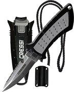 Cressi Tauchermesser Lima, schwarz/grau, 160 mm, RC558000
