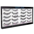 EmaxDesign 10 Paar der Künstliche Wimpern, Multipack Natural 3D falsche Wimpern - Fashion Wimpernverlängerung für Make-up